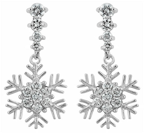 Telmae Snowflake  Drop Earrings | 2ct