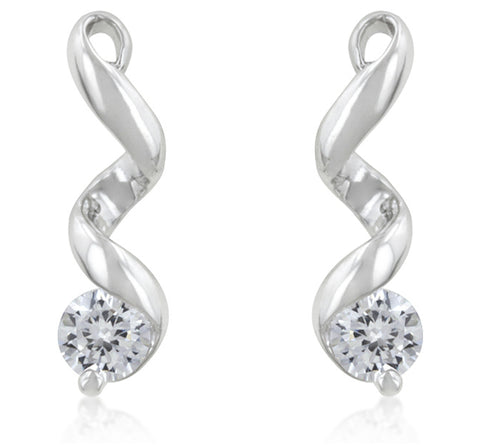 Margot Solitaire CZ Drop Earrings  | 1ct