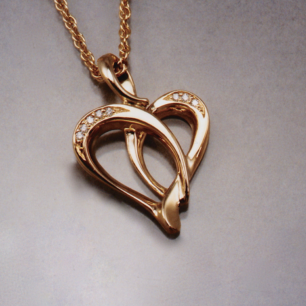 Ribbon Heart Pendant Variation,Custom,custom jewelry designer,custom jewelry design, Handmade jewelry, handcrafted, fine jewelry designs, designer goldsmiths, unique jewelry designs, northwest jewelry, northwest jewelry designers, pacific northwest jewelry,