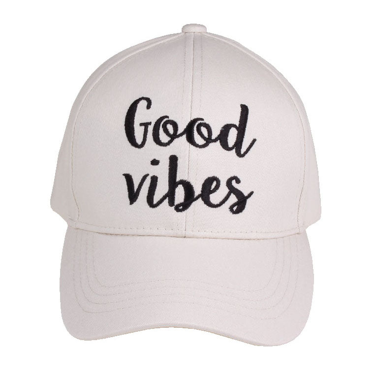 Good Vibes Embroidered CC Ball Cap BA2017GV