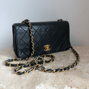 Authentic CHANEL Vintage Small Full Flap Crossbody