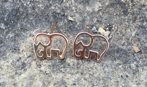 Elephant Earrings (Silver, Gold, Rose Gold)