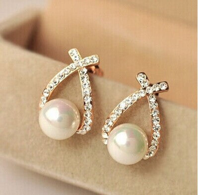 Dropped Pearl Earrings