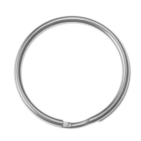 32mm Split Ring, Key Chain Ring, Imit. Rhodium  (36 Pieces)
