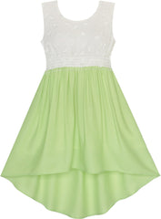 Girls Dress Dimensional Butterfly Chiffon Hi-lo Party Size 7-14 Years