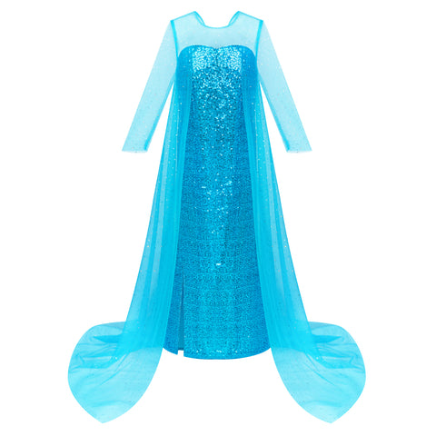 Girls Dress Princess Dress Elsa Costumes Birthday Party Size 4-10 Years