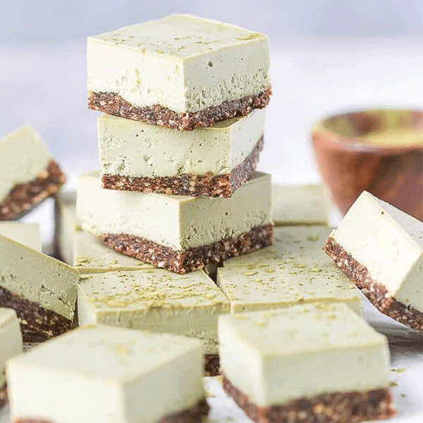 Vegan Matcha Cheesecake Bars