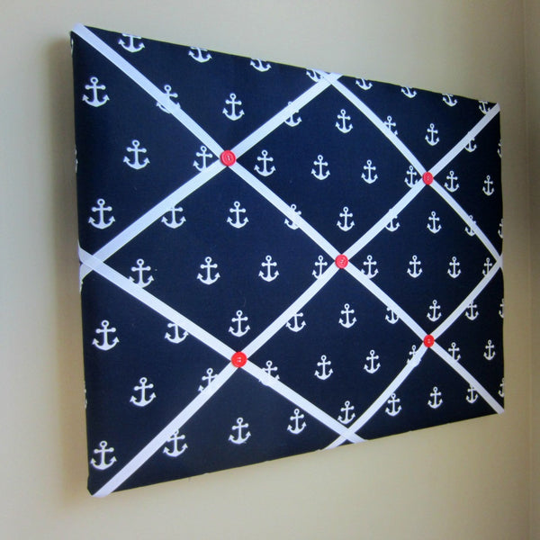 "16""x20"" Memory Board or Bow Holder-Navy Anchor - Hold It!"