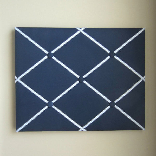 "16""x20"" Memory Board or Bow Holder-Navy Blue & Light Blue - Hold It!"
