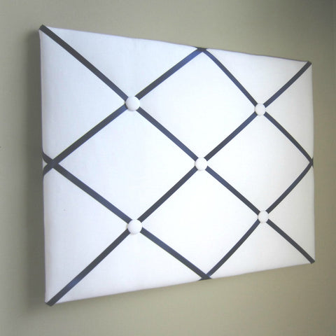 "11""x14"" Memory Board or Bow Holder-White & Navy Blue - Hold It!"