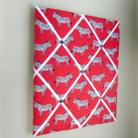 "16""x20""  Memory Board or Bow Holder-Red Zebra - Hold It!"