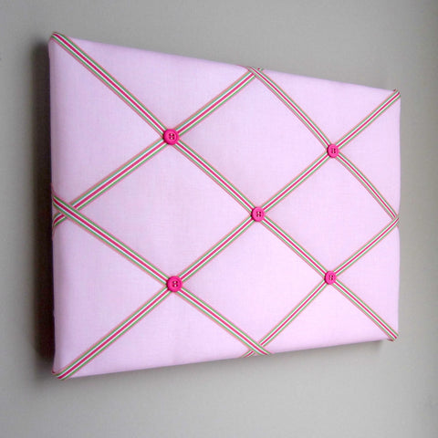 "11""x14"" Memory Board or Bow Holder-Pink & Green Preppy - Hold It!"