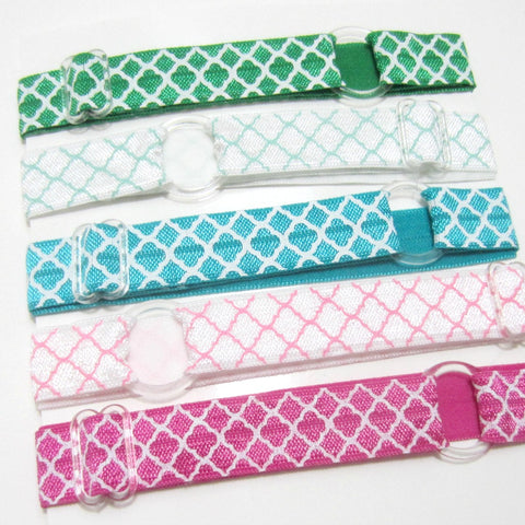 Quatrefoil-Individual Adjustable Headband -Choose Your Own Colors! - Hold It!