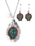 Life is Good Turtle Necklace Set
