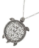Turtle Magnifying Glass Necklace