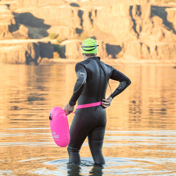 Swim Buoy - New Wave Swim Bubble For Open Water Swimmers And Triathletes - Pink