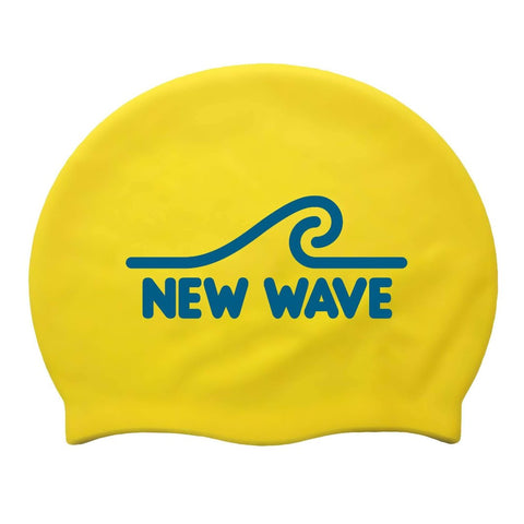 Swim Cap Yellow - New Wave Silicone Swim Cap best open water swim buoy