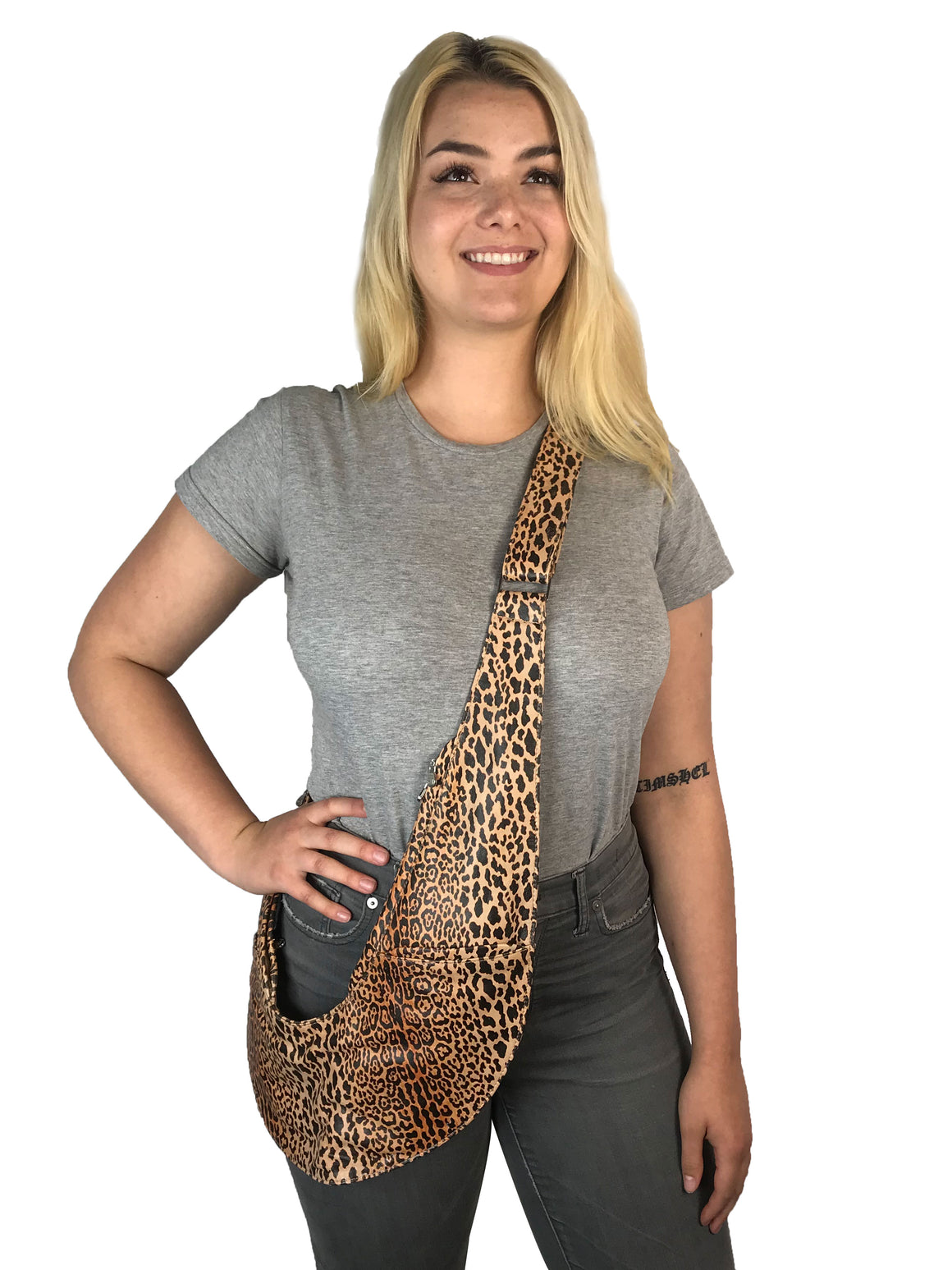 PRE-ORDER: Leopard Leather Classic Sash Bag