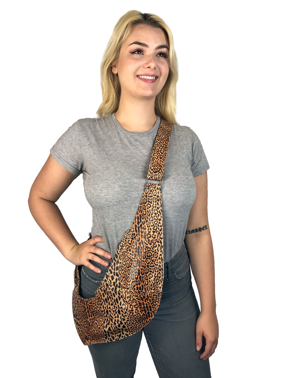 PRE-ORDER: Leopard Leather Extra Sash Bag
