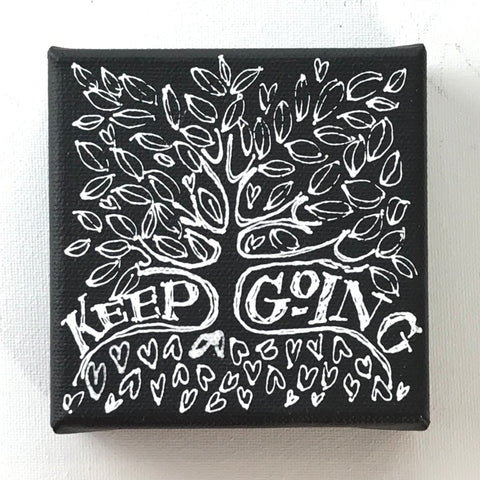 Keep Going - Original Art Mini