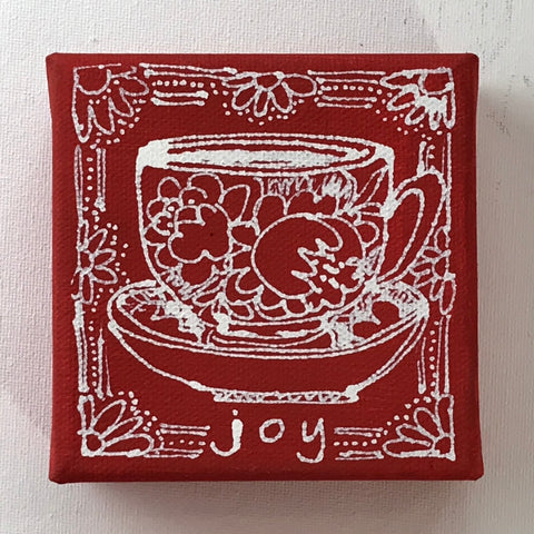 A Cup of Joy - Original Art Mini