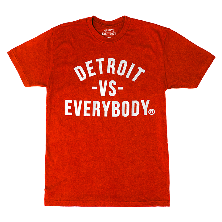 DETROIT VS EVERYBODY T-SHIRT RED/WHITE