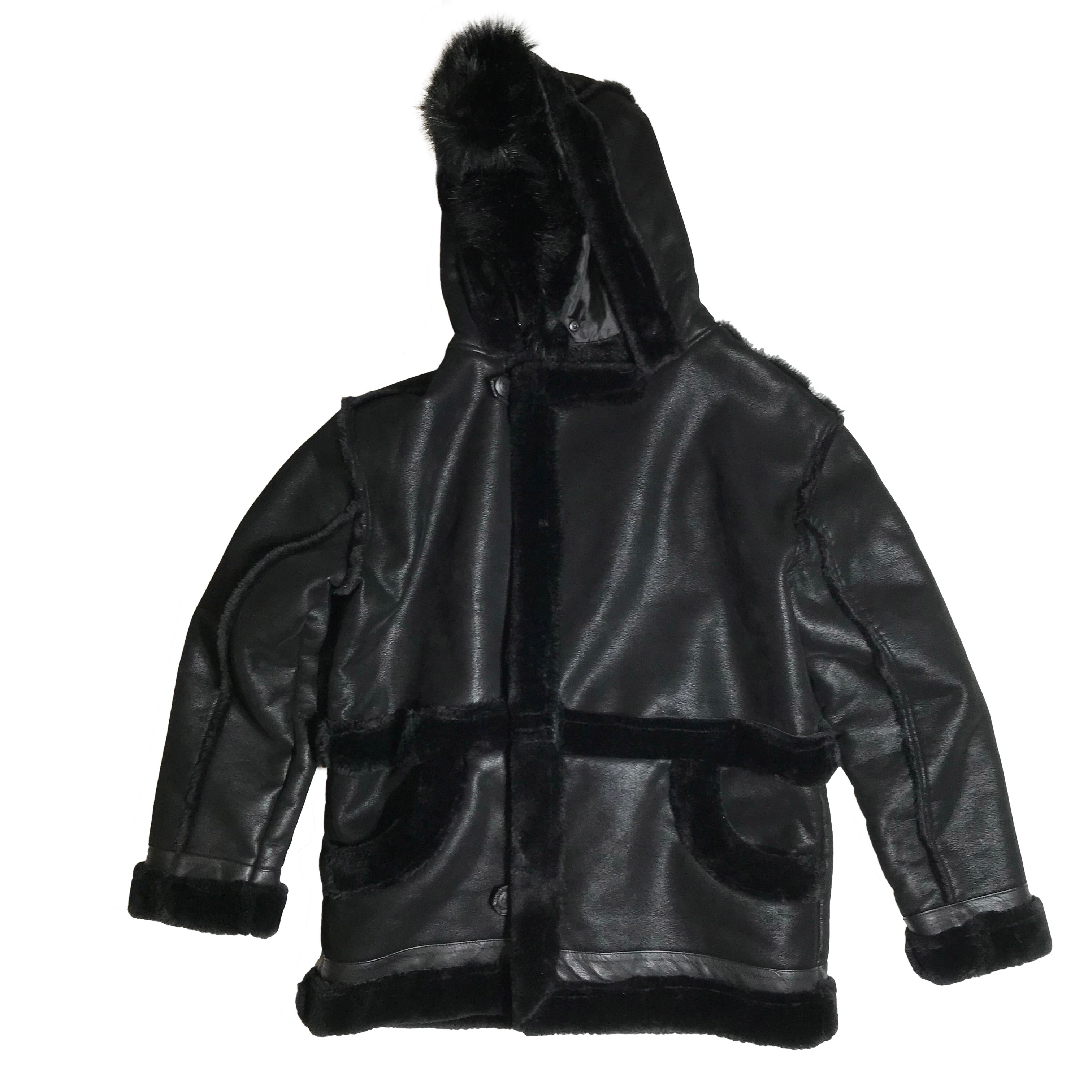 JORDAN CRAIG SHEARLING JACKET LEGACY EDITION BLACK