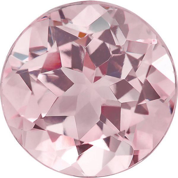 Natural Super Fine Baby Pink Morganite - Round - Mozambique - AAAA Grade