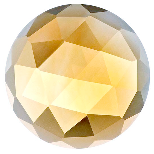 Natural Extra Fine Yellow Gold Citrine - Round Rose Cut Cabochon - Brazil - AAA+ Grade