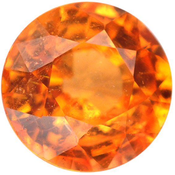 Natural Fine Mandarin Orange - Round - Nigeria - Top Grade - NW Gems & Diamonds