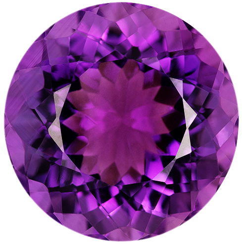 Natural Fine Rich Royal Purple Amethyst - Round - Brazil - AAA Grade