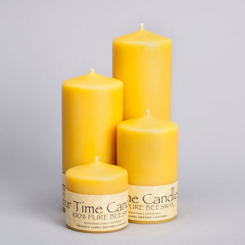 Beeswax 3 inch Pillar Candles