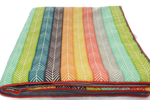 Small Baby Blanket Ethnic. Oh! Organic Cotton!