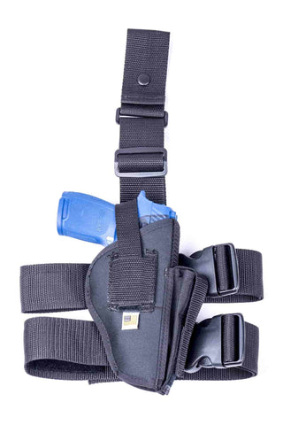 NTAC03 · Premium Nylon Thigh Holster with Mag Pouch