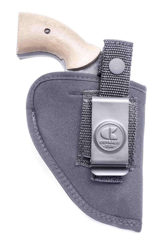 "NL07 · NYLON IWB & OWB COMBO HOLSTER · For most 2"" 6-shot revolvers"