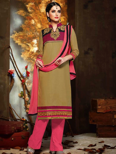 Tortilla Brown and Pink Straight Cut Suit