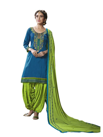 Designer and Beautiful Blue Color Patiala Suit