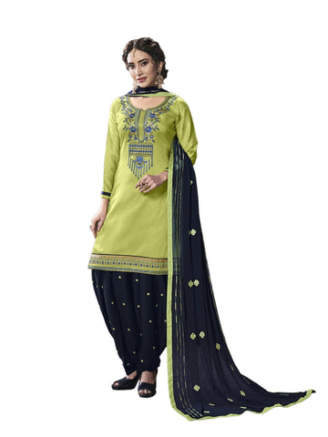 Designer and Beautiful Light Green Color Patiala Suit