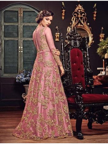 Designer & Beautiful Baby Pink Color Anarkali Suit