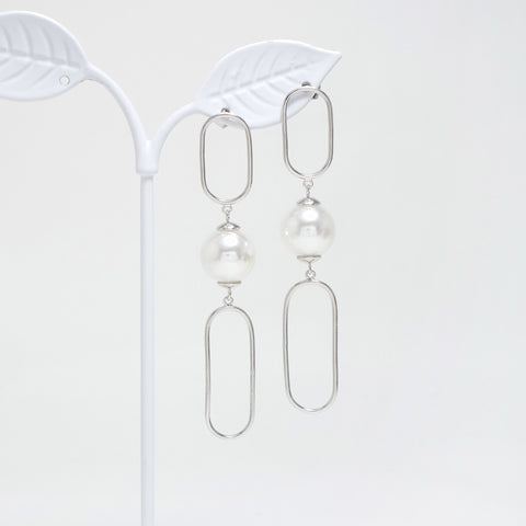 Big Pearl Bold Earrings [Touch Your Heart]