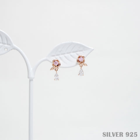 Rose Earrings [Her Private Life] [925 Silver]