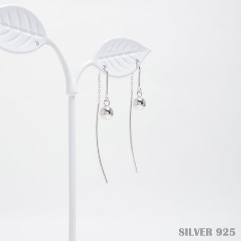 Silver Ball Earrings [Her Private Life] [925 SIlver]