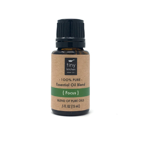 Essential Oil Blend - Focus - 100% Pure & Undiluted, Therapeutic Grade Synergy