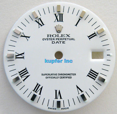 Rolex Ladies Date Dial - White - Kupfer Jewelry