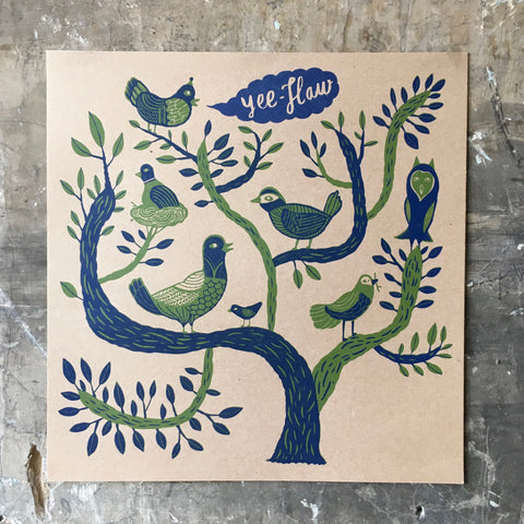 Birds In A Tree - Poster