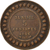 TUNISIA, 5 Centimes, 1916, Paris, KM #235, EF(40-45), Bronze, 26, Lecompte #80,.