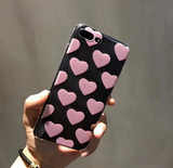 Cute pink heart plastic Case Cover for Apple iPhone 7 7Plus 6 Plus 6 -05011