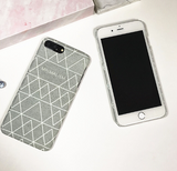 Creative Geometrical line printed plastic Case Cover for Apple iPhone 7 7Plus 6 Plus 6 -05011