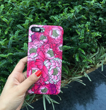 Lovely flower peony printed plastic Case Cover for Apple iPhone 7 7Plus 6 Plus 6 -05011