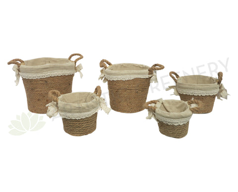 ACC0073 Jute Basket 5 Sizes